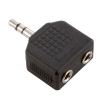 Adam Hall Connectors 7556 - Adapter typu Y 2 x jack stereo 3,5 mm żeński na jack stereo 3,5 mm męski