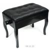 MStar Menuet Plus ława do pianina, kolor: czarny połysk, siedzisko: skóra naturalna czarna
