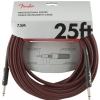 Fender Professional Series Instrument Cable 25′ Red Tweed  kabel gitarowy