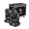 Flash 2x 3R Moving Head 3in1 BEAM+SPOT+WASH, ZOOM + case - zestaw 2 głowic w skrzyni transportowej
