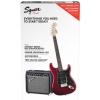 Fender Affinity Series Stratocaster HSS Pack, Laurel Fingerboard, Candy Apple Red, 230V EUR gitara elektryczna zestaw
