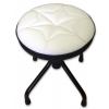 Stim ST03BI stołek uniwersalny, obrotowy, regulowana wysokość, obicie białe, taboret