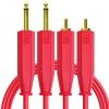 DJ TECHTOOLS Chroma Cabels kabel audio 2xRCA - 2xTS 6,3mm 1,5m (czerwony)