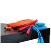DJ TECHTOOLS Chroma Cabels kabel audio jack-jack 6,3mm 1,5m (niebieski)