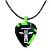 PICKBANDZ 6153TT Necklace Neon Gren & Black wisorek