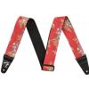 Fender 2″ Hawaiian Strap, Red Floral pasek gitarowy