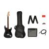Fender Squier Affinity Stratocaster HSS Pack Charcoal Frost Metallic, gitara elektryczna + wzmacniacz + pokrowiec + pasek + kabel + kostki
