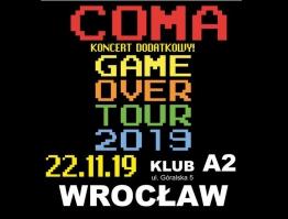 Dodatkowy koncert zespołu Coma we wrocławiskim A2