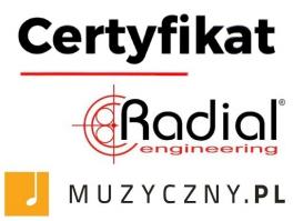 Muzyczny.pl certyfikowanym sprzdawcą firmy Radial.