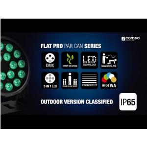 Cameo FLAT PRO 18 IP65 - 18 x 10 W FLAT LED Outdoor